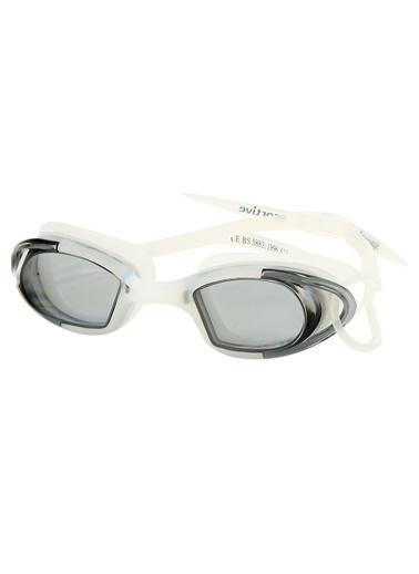 Sportive Unisex Beyaz Yüzücü Gözlüğü Sr-616-Smok Beyaz